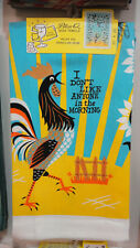 "Kitchen - Dish Towel "" I Don't Like Anyone in the Morning "" Blue Q"