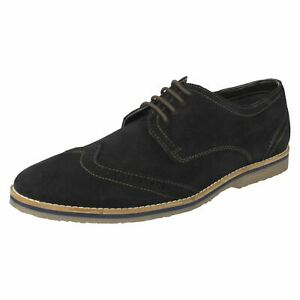Mens Hush Puppies Wide Width Lace Up Brogue Shoes Sebastian Wing Tip