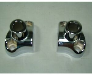 chrome short handlebar risers Harley Indian FXR Dyna FXST XL Softail Fatboy EP15