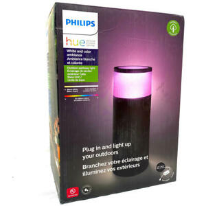 Philips Hue Calla White & Color Ambiance Outdoor Pathway Light Base Kit 1 Light