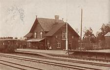 MORJARV RAILWAY STATION SWEDEN Antique Postcard 1915