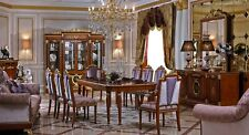 Classic Dining Room Set Table 8 Chairs Dresser Mirror Display Case Baroque E38