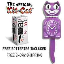 """RADIANT ORCHID LADY KIT CAT CLOCK 15.5"""" Free Battery LIMITED EDITION! BRAND NEW!"""