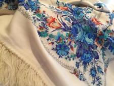 Sciarpa con frange di lana | 100% Lana | Pavlovo Posad