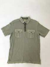 Tommy Bahama Men's Green Polo Button Down Size M 100% Pima Cotton