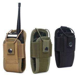 Adjustable Tactical Radio Pouch Molle Walkie Talkie Bag Belt Holder Holster Bag