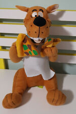 SCOOBY DOO CHARACTER PLUSH TOY WITH PIZZA! SOFT TOY ABOUT 33CM SEATED KIDS TOY!