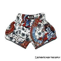 Raja Boxing Muay Thai Kick Boxing Shorts MMA Dragon Gray White S M L XL XXL