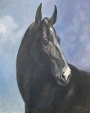 """Horse Portrait"" (oil painting)"