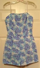 Sea Waves Swim Suit Play Beach White Blue Floral Vtg. Size 10 $88 NOS NWT NEW