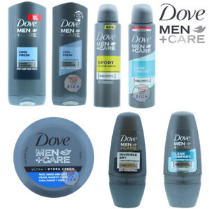 DOVE MEN+CARE BODY WASH/ ROLL/ SPRAY  COLLECTIONS PACKS (2 ,3 BOTTLES)
