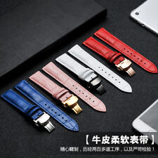 Band Twister with Butterfly Buckle 4 Color Genuine Leather Men Women Watch Strap