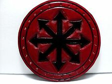 CHAOS GENUINE LEATHER BLACK AND RED  PATCH