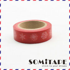 Three Snowflakes  Christmas Winter Washi Tape, Craft Decorative Tape