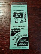 Vintage Matchcover: Asia Cafe & Cocktail Lounge, CA   42