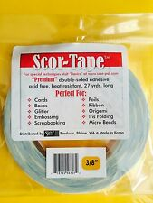 """2 Rolls of Scor-Tape Adhesive 3/8"""" x 27yd by Scor-Pal - FREE SHIPPING!!!"""