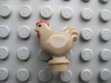 Lego CHICKEN Animal - Dark Tan-  City Farm Town Pet Rooster