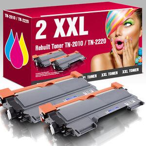 2 XXL Toner kompatibel zu Brother TN-2010 HL 2130 DCP 7055 DCP 7057 schwarz