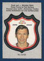 STAN MIKITA 72-73  O-PEE-CHEE PLAYER CRESTS 1972-73 NO 5 EXMINT+