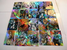 Lady Death 1 106 Card Holochrome, Refractor + 5 Necrochrome Factory Set