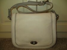 FOSSIL MARLOW FLAP SATCHEL BONE WHITE LEATHER SHOULDER BAG PURSE NWT