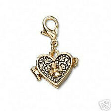 Heart Prayer Wish Box Pendant Locket Gold Cross with Clasp Jewelry