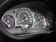 BMW E46 3 anelli Tachimetro in cromo SOLO clipsen/ SNAP NO incollare MOLTO EDEL