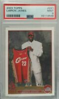 Lebron James 2003 Topps rookie rc # 221 PSA 9 Mint super hot super rare invest
