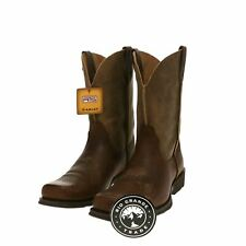 NIB ARIAT Men's Rambler Western Cowboy Boot in Earth / Brown Bomber - 9.5 M US