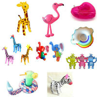 Inflatable Animal Party Decor Kid Swimming Float Pool Beach Blow Up Toy Gift