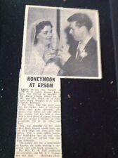 72-9 Ephemera 1957 Picture Wedding Patricia Tugwell Ramsgate David Hoare
