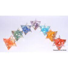 Set of 7 Chakra Orgone Merkaba Stars for Orgone Healing Chakra Merkaba Stars