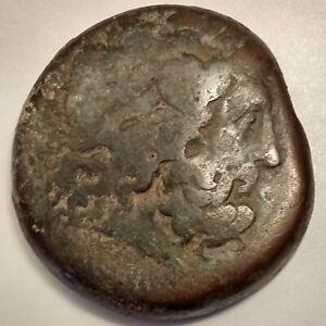Large bronze Dekadrachm Ptolemy II Philadelphos , Zeus ,2 Eagles  Ca. 284-247 BC