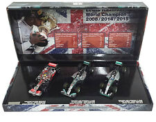 Minichamps Lewis Hamilton F1 World Champion Triple Car Set - 1/43 Scale