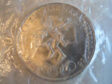 1968 MEXICO XIX OLYMPICS COIN - 25 PESOS - .720 SILVER - SEALED - MINT