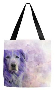 Tote bag All over print Dog 140 Golden Retriever Purple digital art L.Dumas