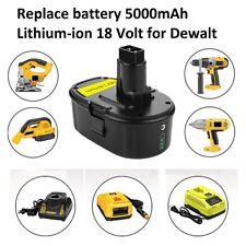 Upgraded Replacement Battery 5000mAh Lithium-ion 18V for Dewalt XRP Cordless