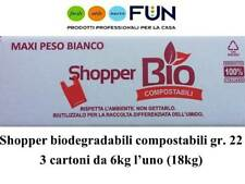SHOPPER BIODEGRADABILE COMPOSTABILE MAXI 22GR - 18KG