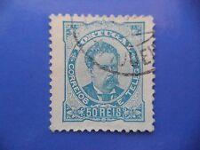 PORTUGAL STAMP - 1882/84 KING LUIS I (NEW DRAW / NOVO DESENHO) - 50 REIS BLUE