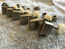 KLUSON RELIC AGED NICKEL VINTAGE TUNERS PLASTIC SLOTTED DOUBLE ROW SD9105MNPDR