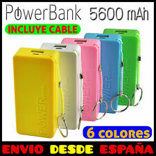 Power Bank Bateria Externa 5600mAh Cargador Micro USB Universal Movil, Tablet