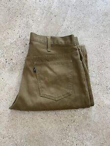 """VTG 60's 70's Big E Pique Corduroy Pants Sta-Prest Levi's Talon Zip 33"""" x 31"""""""