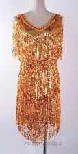 1920's Great Gatsby Gold Sequin Clubwear Party Star Scale Films Shine  RD 3296