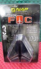 """NAP Crossbow 3 FOC 3"""" Cut 170 Grains 2-Blade Expand, & 3 Practice Points  60-900"""