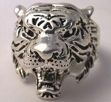 G-Filled 18ct gold Men's Tiger ring jungle animal Bikie Biker USA 10.75 AU V 1/2