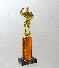 BODY BUILDER  ADONIS TROPHY  EIGHT COLORS BLACK MARBLE 4""