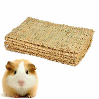 Reusable Pet Rabbit Grass Activity Mat Guinea Pig Woven Straw Cage Pad Chew Toy