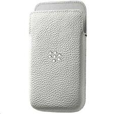 Genuine Official BlackBerry Leap Leather Pocket Cover Case White ACC-60115-002