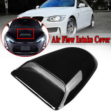 Universal Car Roof Decorative Air Flow Intake Hood Scoop Vent Bonnet Cover Black