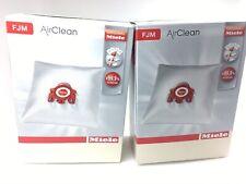 Genuine Miele Fjm AirClean Vacuum Filter Bags 4 Bags 2 Filters - 2 Pack